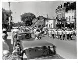 Children's Day Parade Looking west on Colborne Street from Thomas Street